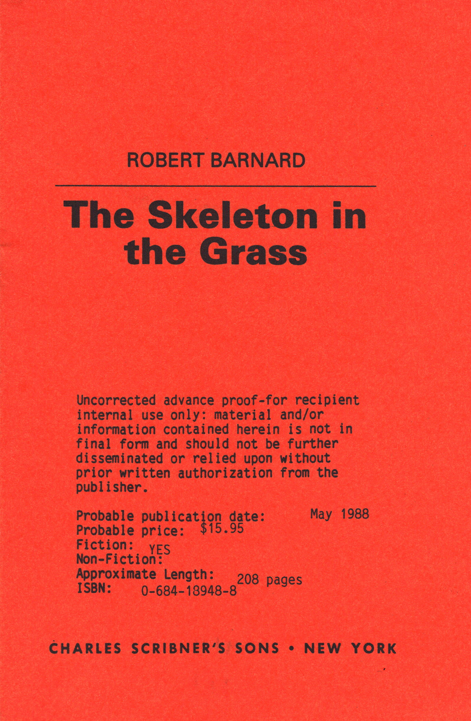 Image for SKELETON IN THE GRASS