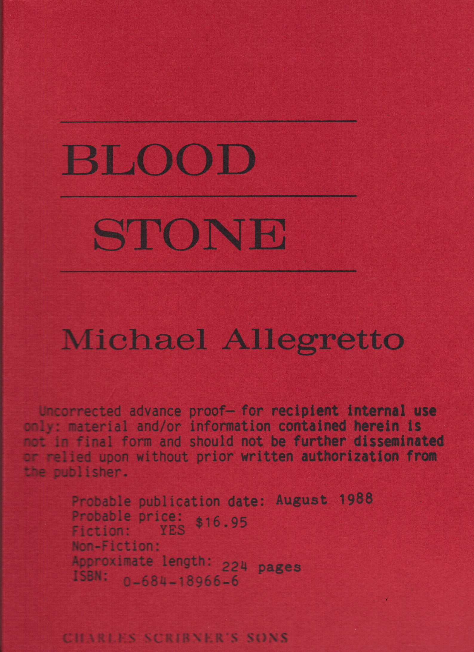 Image for BLOOD STONE