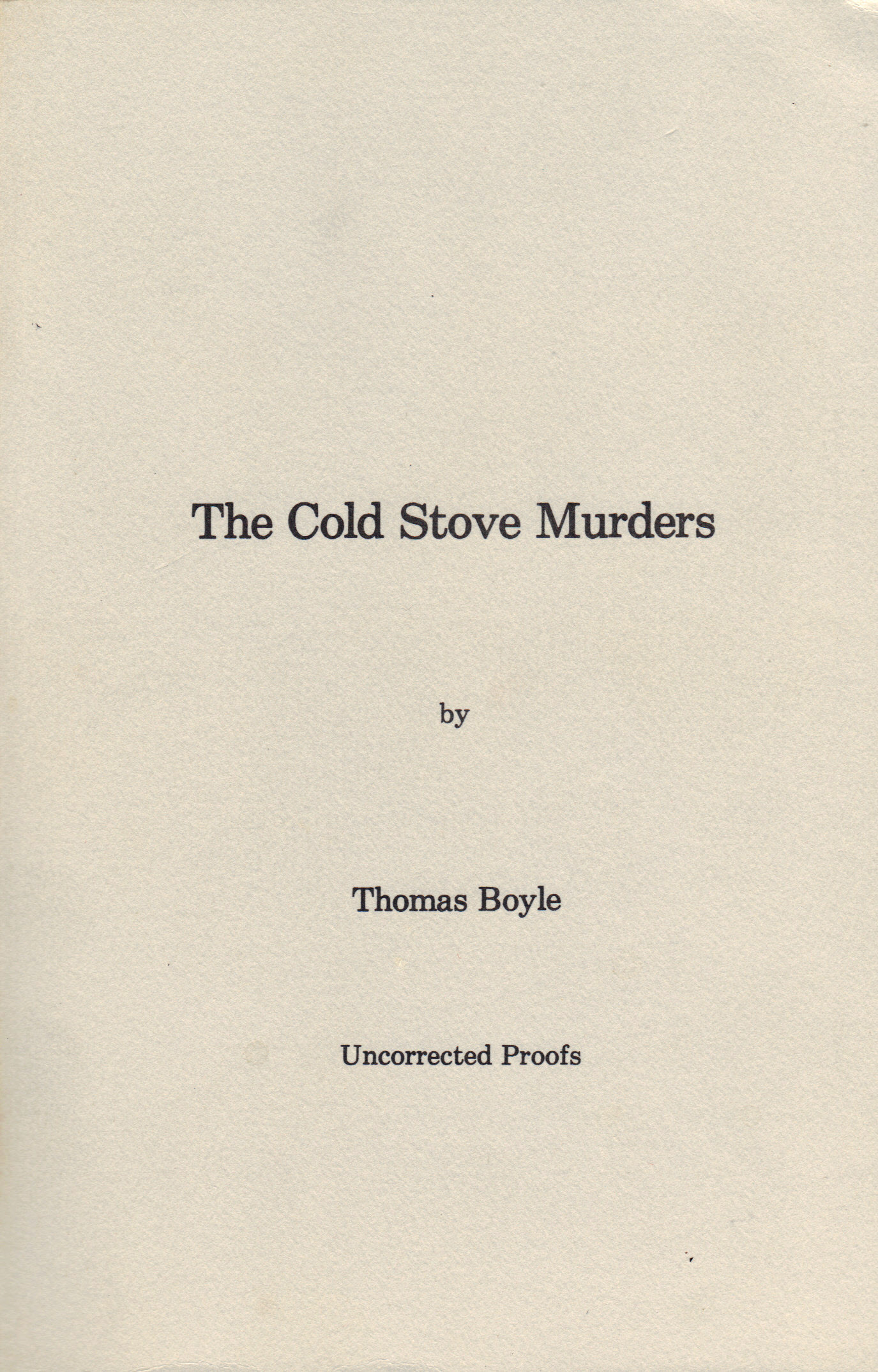Image for COLD STOVE MURDERS