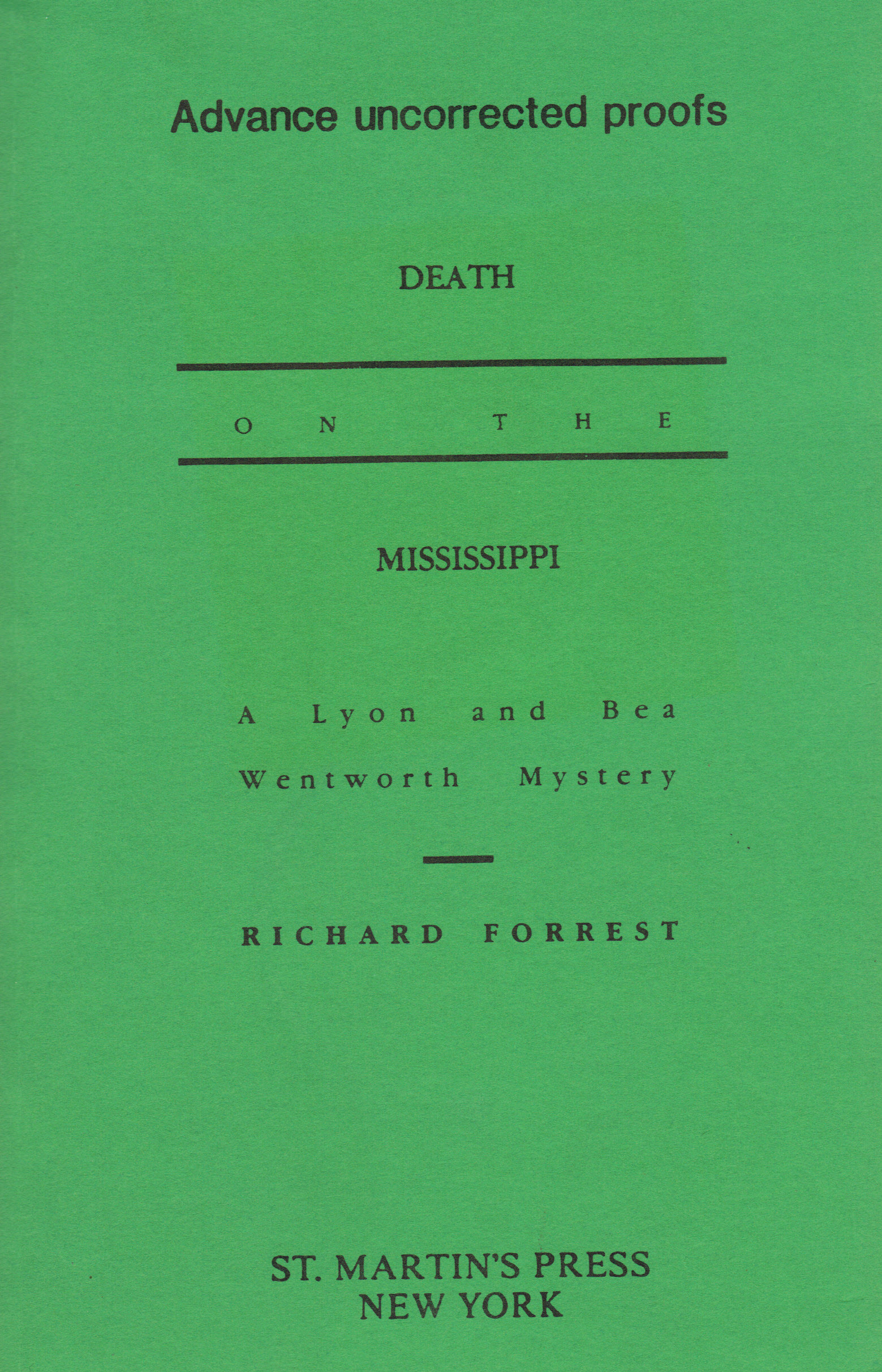 Image for DEATH ON THE MISSISSIPPI