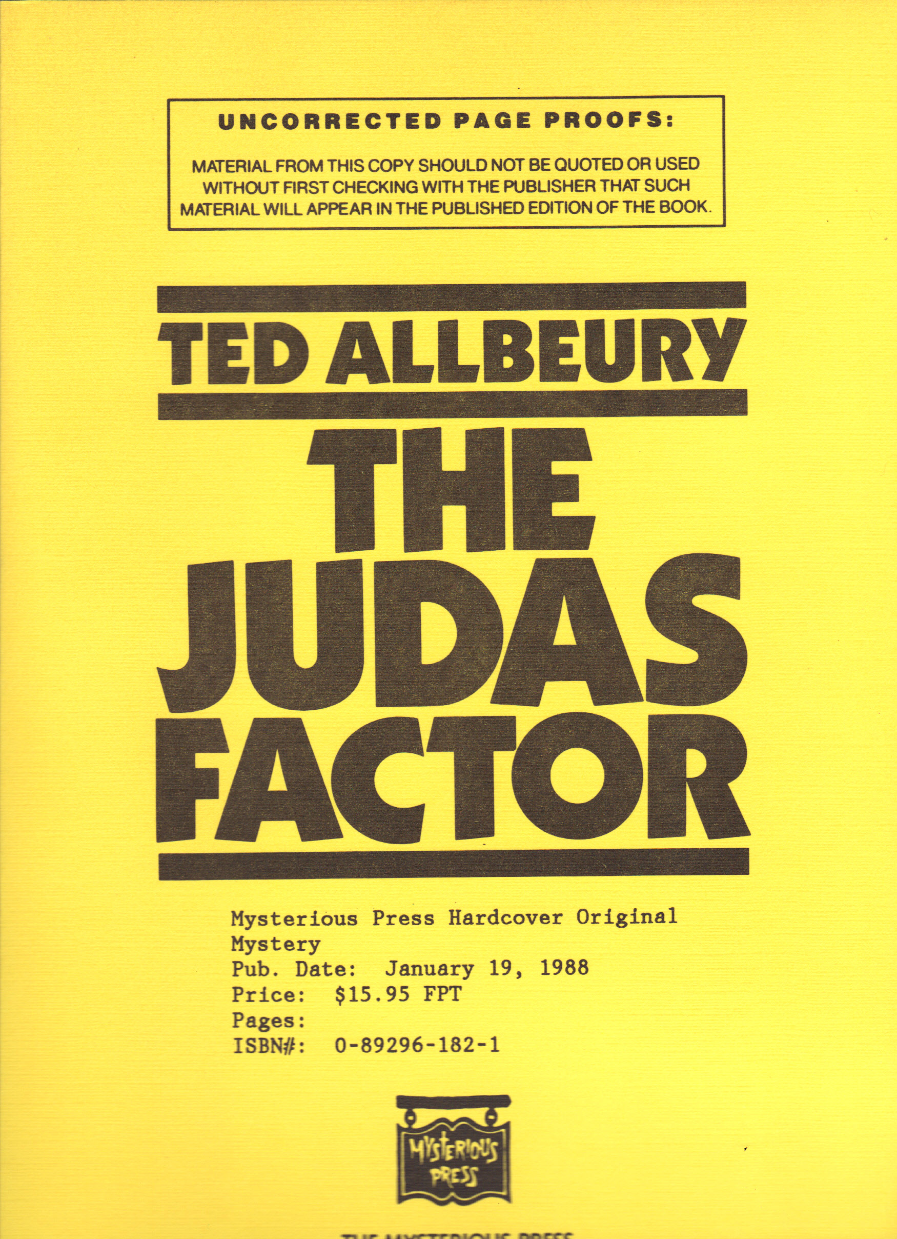 Image for JUDAS FACTOR