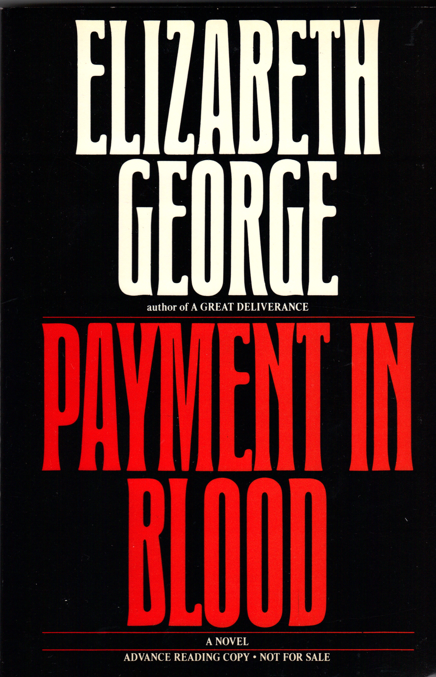 Image for PAYMENT IN BLOOD
