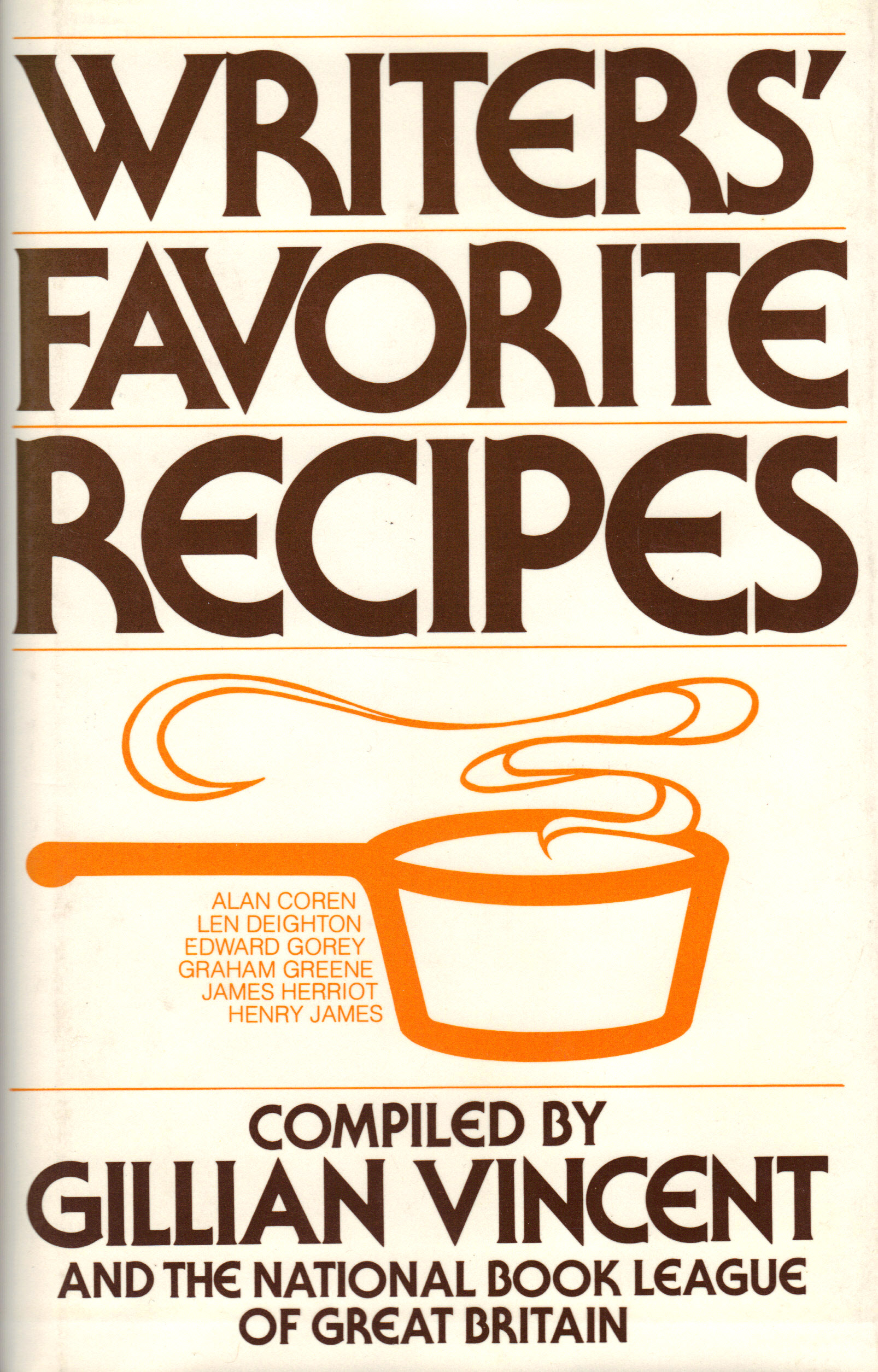 Image for WRITERS FAVORITE RECIPES
