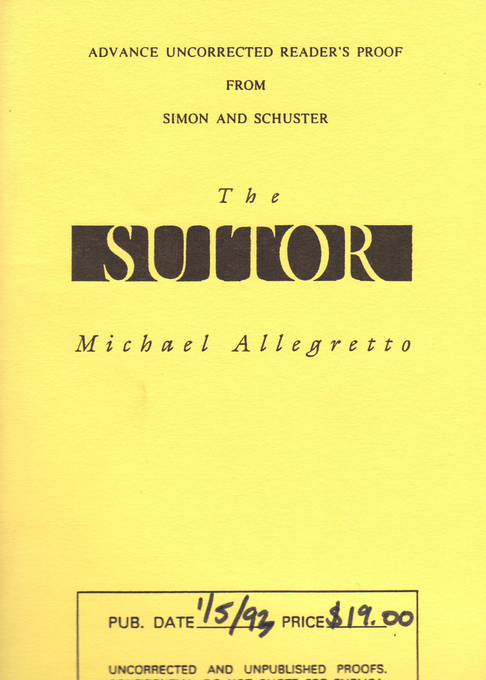 Image for SUITOR, The