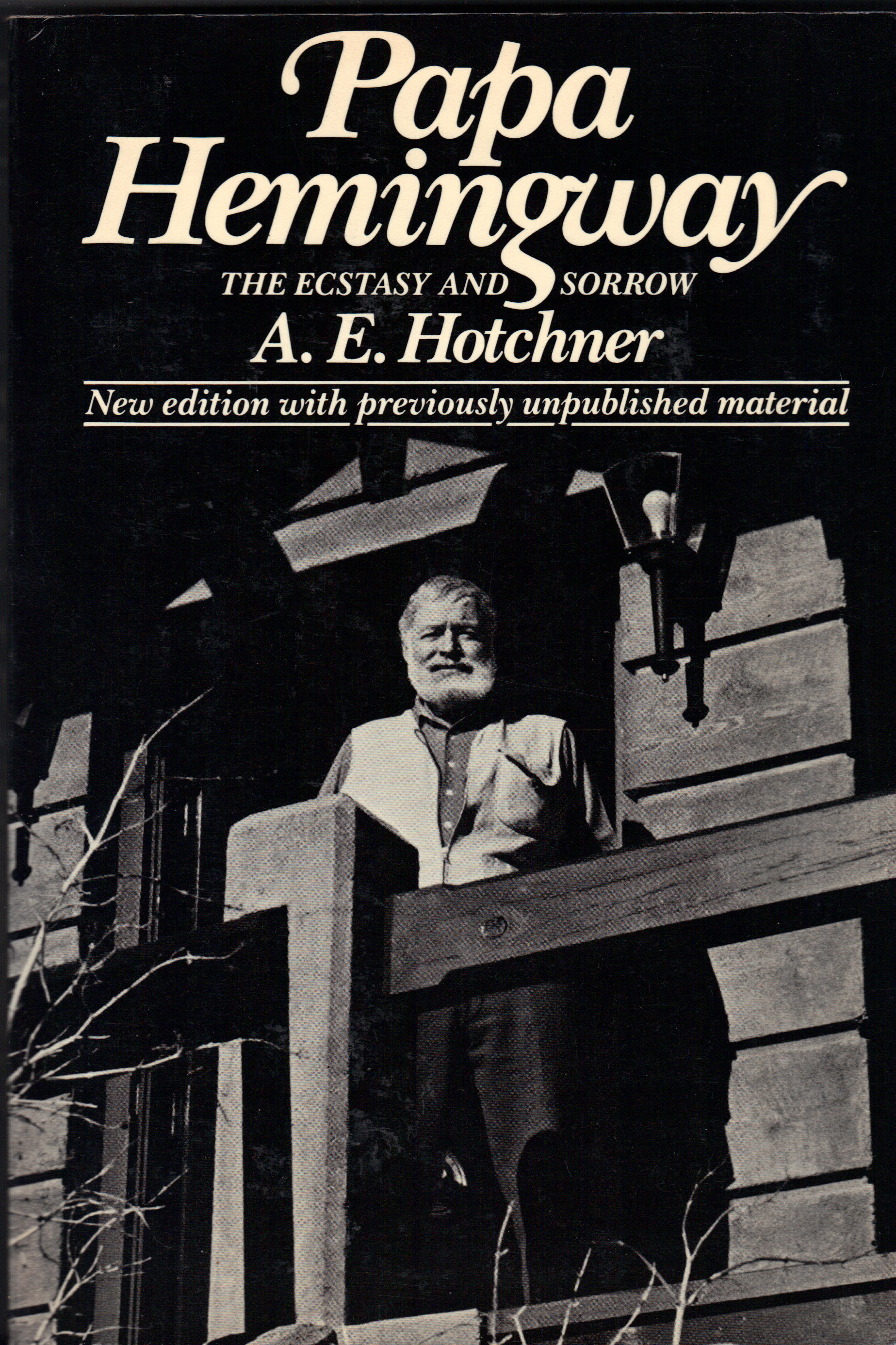 Image for PAPA HEMINGWAY, The Ecstasy and Sorrow