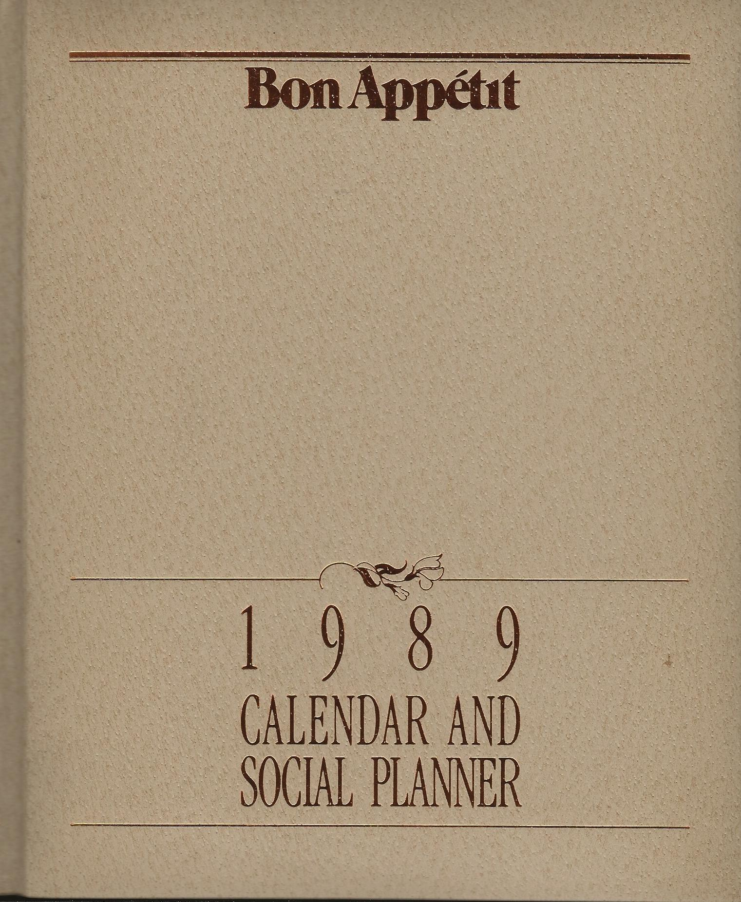 Image for CALENDAR AND SOCIAL PLANNER 1989