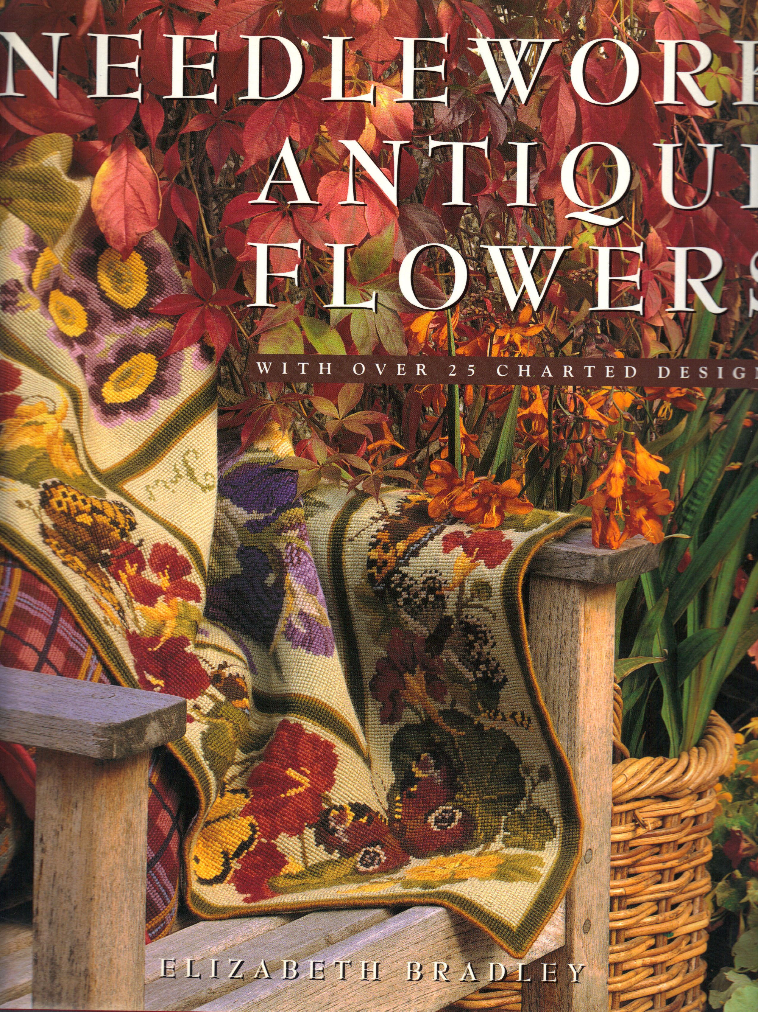 Image for NEEDLEWORK ANTIQUE FLOWERS ~ With Over 25 Charted Designs