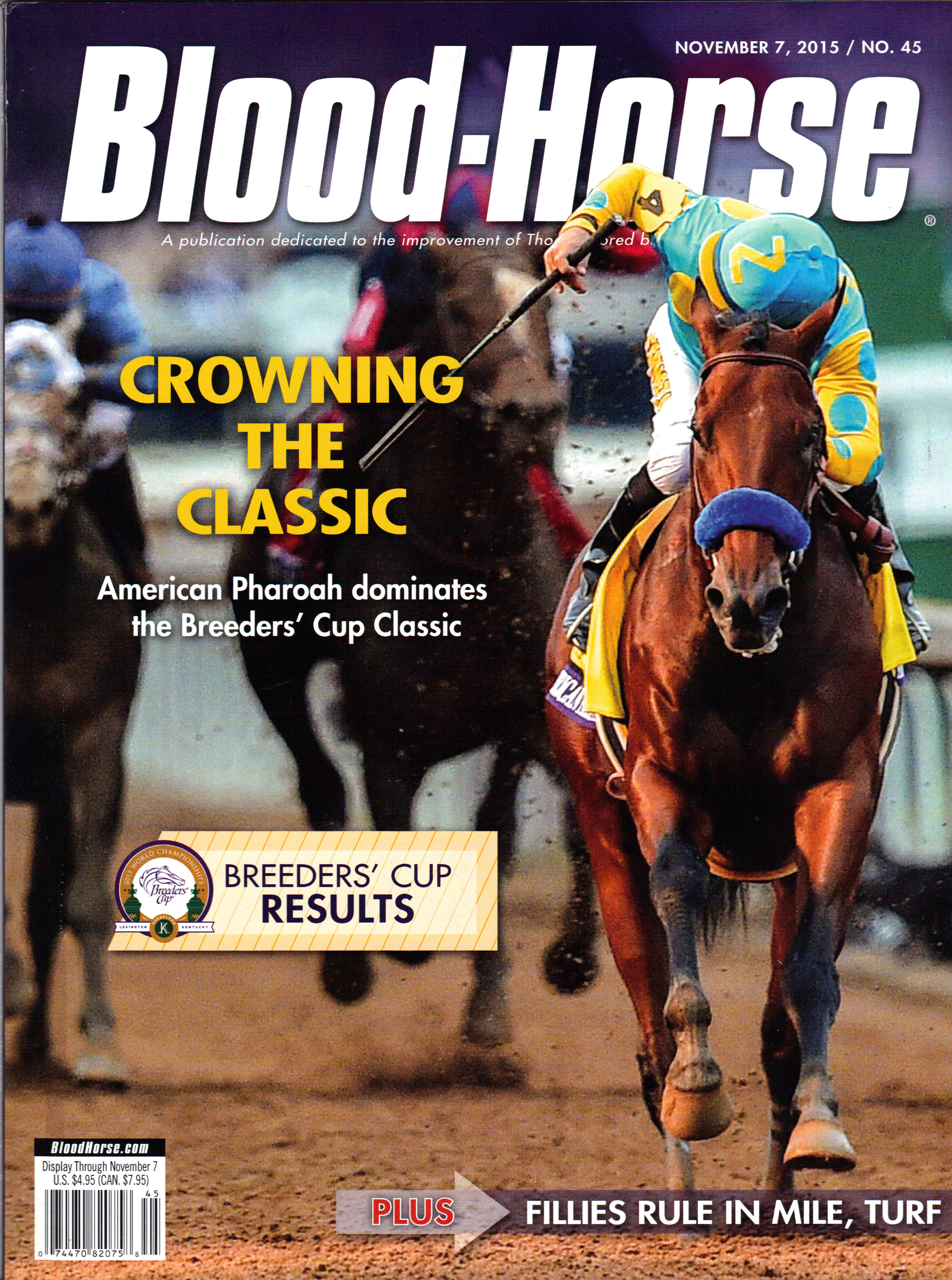 Image for BLOOD-HORSE, NOVEMBER 7, 2015 / NO. 45 ~ CROWNING THE CLASSIC