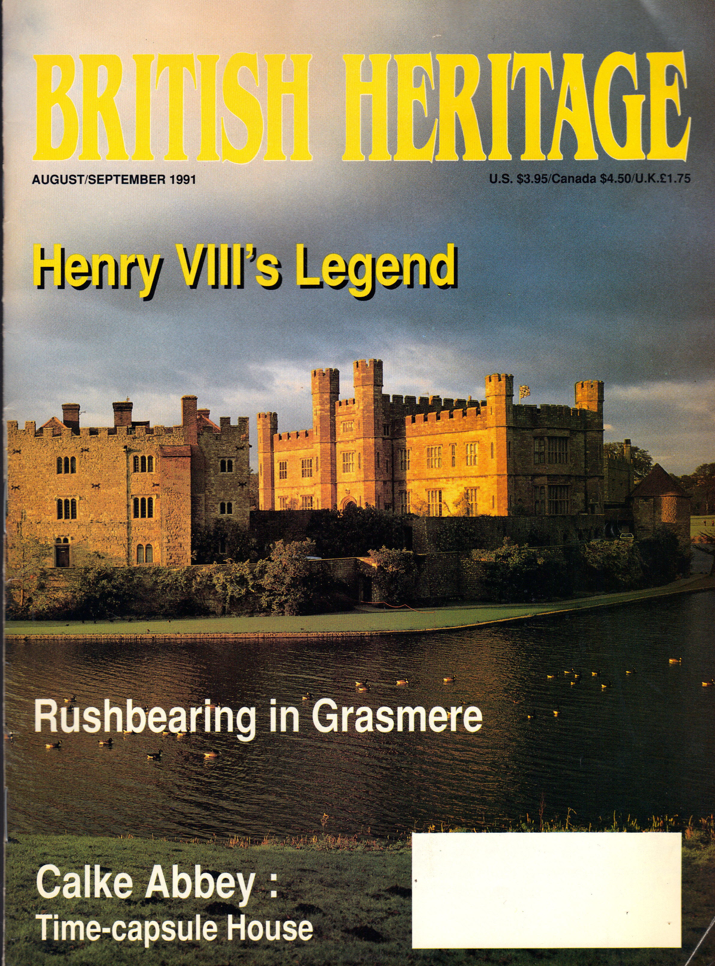 Image for BRITISH HERITAGE ~ AUGUST / SEPTEMBER 1991