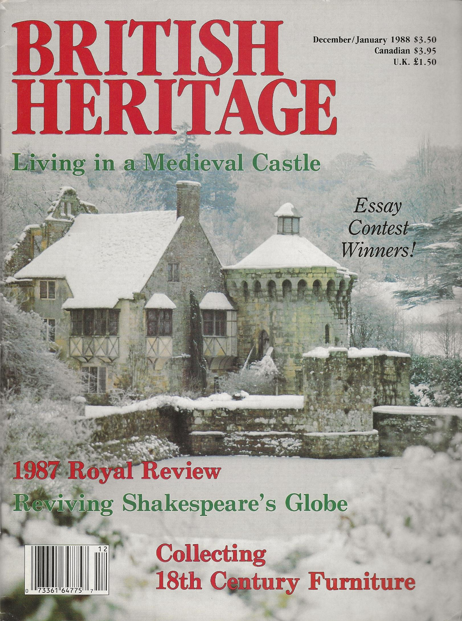 Image for BRITISH HERITAGE ~ December 1987 / January 1988