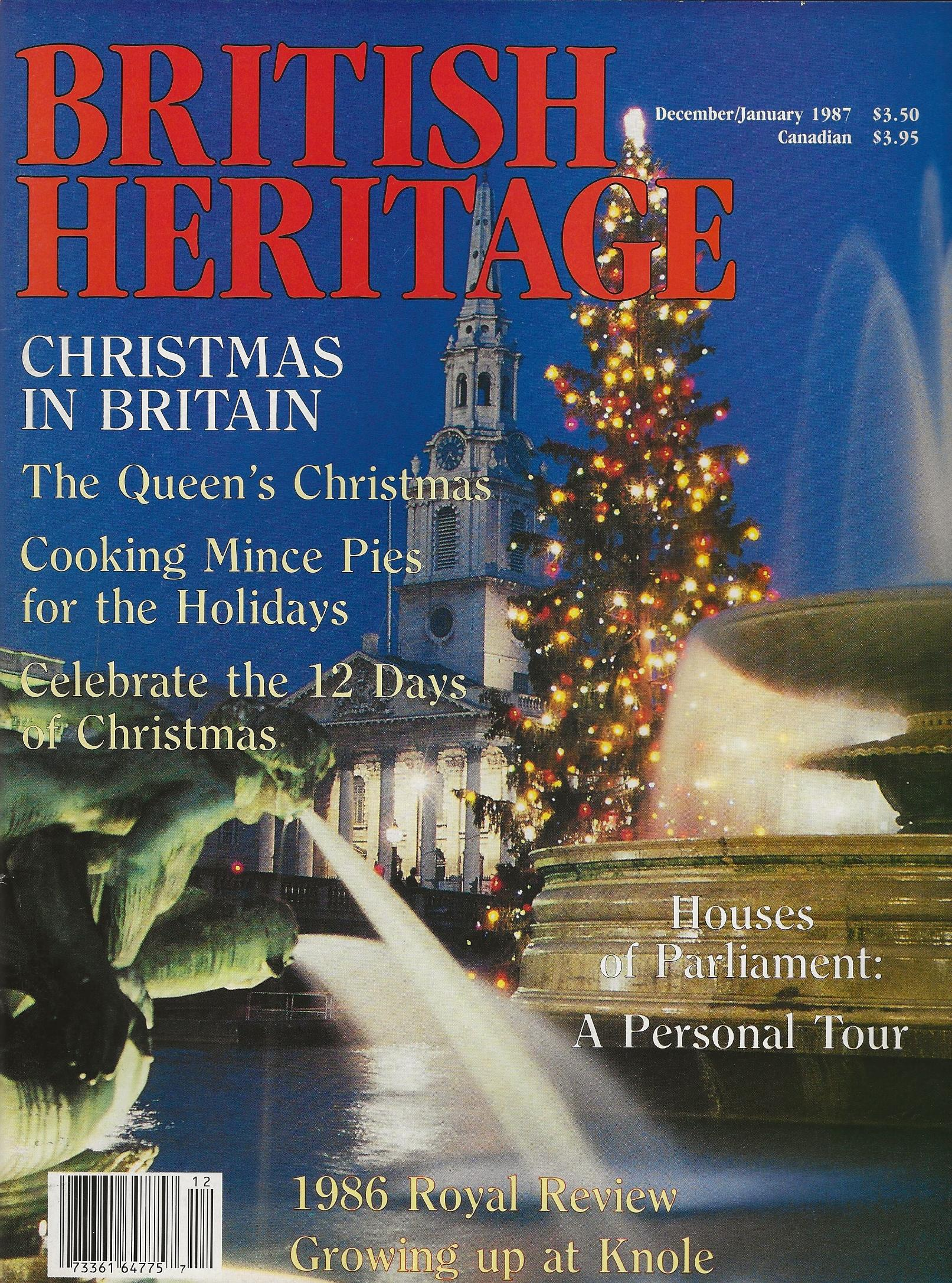 Image for BRITISH HERITAGE ~ December 1986 / January 1987