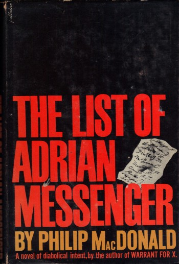 Image for THE LIST OF ADRIAN MESSENGER