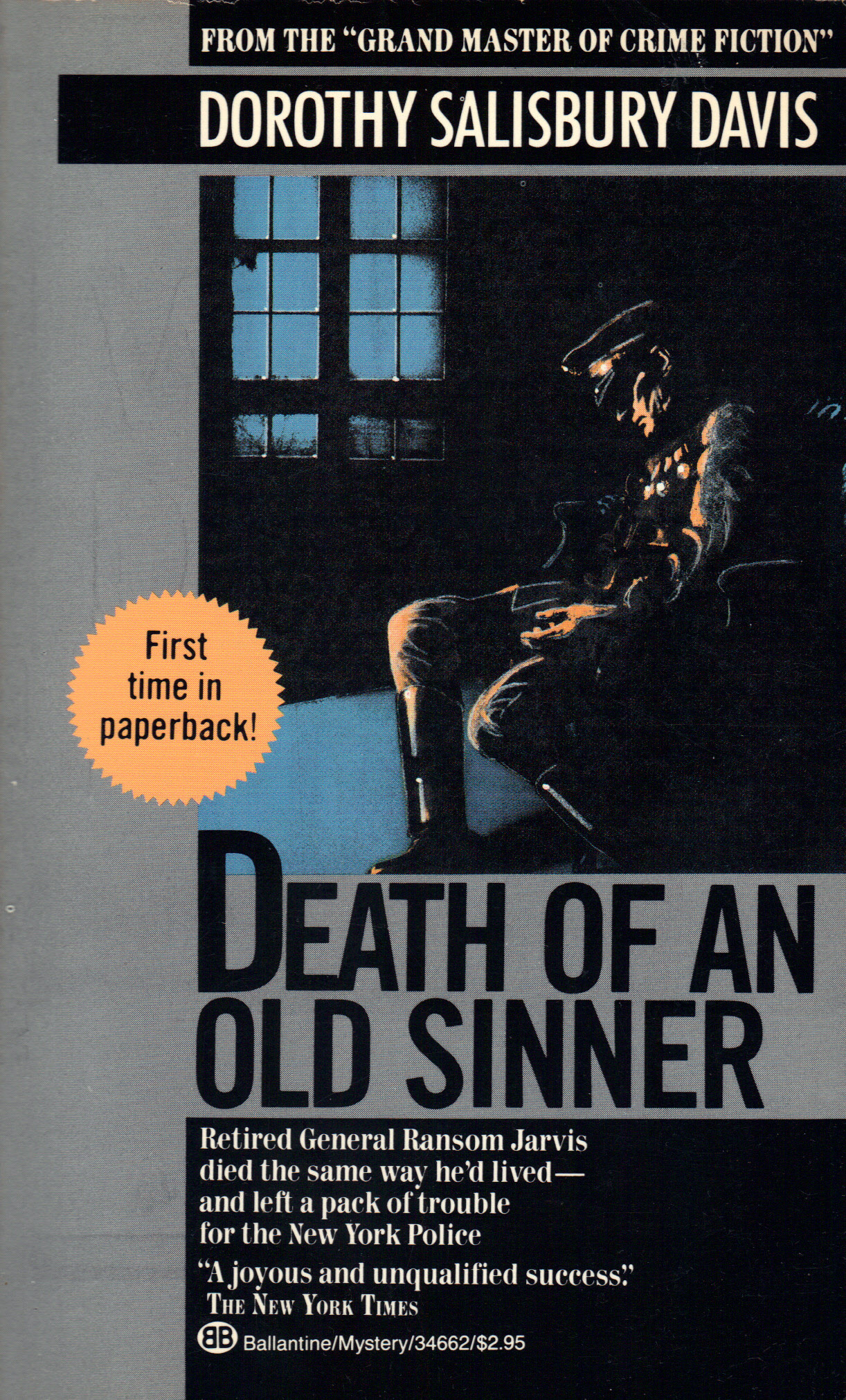 Image for DEATH OF AN OLD SINNER
