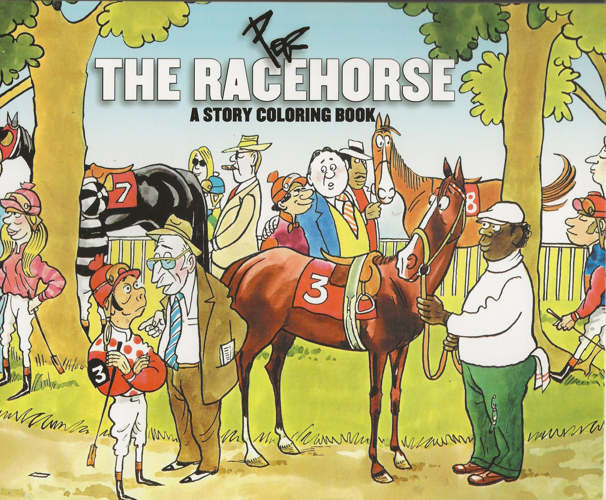 THE RACEHORSE ~ A Story Coloring Book